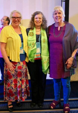 Lyn McKay with her 2 mentors